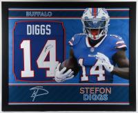 Stefon Diggs Signed 35.5x43.5 Custom Framed Jersey (Beckett Hologram) at PristineAuction.com