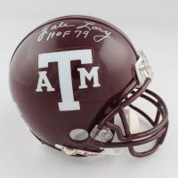 Yale Larry, Jack Pardee, & John David Crow Texas A&M Aggies Mini Helmet with Career Inscriptions (Beckett LOA) at PristineAuction.com