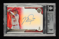 Mike Trout Topps Tribute Autographs Red #TAMT #4/5 (BGS 9) at PristineAuction.com