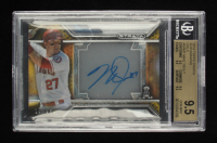 Mike Trout Topps Strata Autographs Gold #SAMT #10/25 (BGS 9.5) at PristineAuction.com