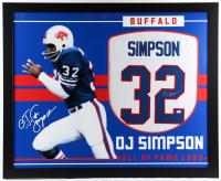O. J. Simpson Signed 35x43 Custom Framed Jersey (JSA COA) (See Description) at PristineAuction.com