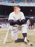"""Mickey Mantle Signed Yankees 11x14 Photo Inscribed """"NO. 7"""" (Beckett LOA) at PristineAuction.com"""