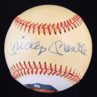 Mickey Mantle Signed OAL Hand-Painted Baseball (Beckett LOA) at PristineAuction.com