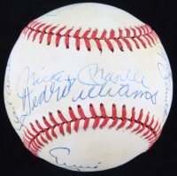 500 Home Run Club OAL Baseball Signed by (11) with Mickey Mantle, Ted Williams, Willie Mays, & Hank Aaron (Beckett LOA) at PristineAuction.com