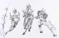Mike Rozier, Eric Crouch, & Johnny Rodgers Signed Nebraska Cornhuskers Heisman Winners 11x17 Lithograph (Beckett LOA) at PristineAuction.com