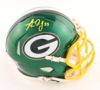 Aaron Jones Signed Packers Flash Alternate Speed Mini Helmet (Beckett Hologram) at PristineAuction.com