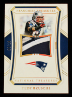 Tedy Bruschi 2020 Panini National Treasures Franchise Treasures Materials Prime Holo Gold #29 #8/10 at PristineAuction.com