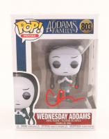 "Christina Ricci Signed ""The Addams Family"" #803 Wednesday Addams Funko Pop! Vinyl Figure (Beckett COA) at PristineAuction.com"