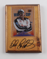 Dale Earnhardt Signed Nascar 5x7 Custom Display with Dale Earnhardt Card (Beckett LOA) (See Description) at PristineAuction.com