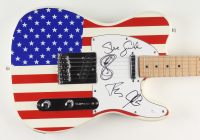 """Journey 40"""" Electric Guitar Signed by (4) with Steve Smith, Jonathan Cain, Ross Vallory & Arnel Pineda (JSA COA) (See Description) at PristineAuction.com"""