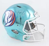 Drew Lock Signed Broncos Full-Size Chrome Speed Helmet (Beckett Hologram) (See Description) at PristineAuction.com