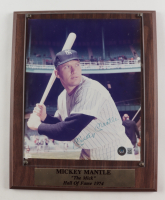 Mickey Mantle Signed Yankees 11x13 Photo Plaque Display (Beckett LOA) at PristineAuction.com
