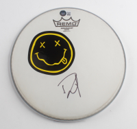 """Dave Grohl Signed Nirvana Logo 10"""" Drumhead (Beckett COA) at PristineAuction.com"""