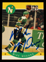 Mike Modano Signed 1990-91 Pro Set #142 RC (Beckett Hologram) at PristineAuction.com