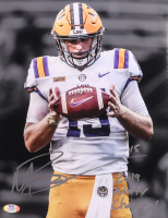 """Myles Brennan Signed LSU Tigers 11x14 Photo Inscribed """"2019 Natty Champs!"""" (PSA COA) at PristineAuction.com"""