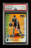 Tyler Herro Signed 2019-20 Hoops Premium Stock Arriving Now #13 (PSA Encapsulated) at PristineAuction.com