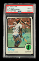 """Pete Rose Signed 1973 Topps #130 Inscribed """"Hit King"""" (PSA Encapsulated) at PristineAuction.com"""