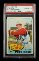"""Pete Rose Signed 1965 Topps #207 Inscribed """"1963 ROY"""" (PSA Encapsulated) at PristineAuction.com"""