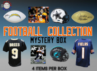 Schwartz Sports Football Collection Signed Mystery Box - Series 12 (Limited to 150) (4 Autograph Items In Every Box!!) at PristineAuction.com