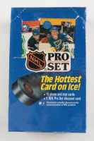 1990-91 NHL Pro Set Series 1 Hockey Card Wax Pack Box with (36) Packs at PristineAuction.com