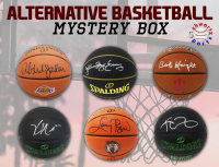 Schwartz Sports Alternative Basketball Signed Mystery Box - Series 1 (Limited to 75) (ALL ARE EITHER TEAM LOGO OR BLACK BASKETBALLS!!) at PristineAuction.com