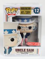 "Charles E. McGee Signed ""American History"" Uncle Sam #12 Funko Pop Vinyl Figure Inscribed ""302 F.S. - 1944"" (JSA COA) (See Description) at PristineAuction.com"