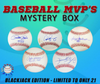 Schwartz Sports - Baseball MVP's Signed Baseball Mystery Box - (Blackjack Edition - Series 1) (Limited to ONLY 21!!) (ALL BALLS ARE LEAGUE OR WS MVP!!) at PristineAuction.com