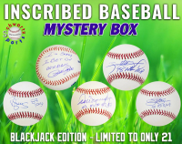 Schwartz Sports - INSCRIBED Baseball Signed Mystery Box - (Blackjack Edition - Series 1) (Limited to ONLY 21!!) (ALL BASEBALLS ARE INSCRIBED!!!) at PristineAuction.com