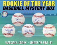 Schwartz Sports - Baseball Rookie of the Year Signed Baseball Mystery Box - (Blackjack Edition - Series 1) (Limited to ONLY 21!!) at PristineAuction.com