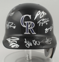 2007 Rockies Full-Size Authentic On-Field Batting Helmet Team-Signed by (11) with Troy Tulowitzki, Todd Helton, Jeff Francis, Ubaldo Jiminez (Beckett LOA) (See Description) at PristineAuction.com