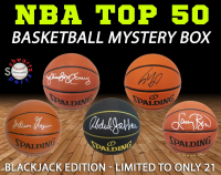 Schwartz Sports - NBA Top 50 Signed Basketball Mystery Box (Blackjack Edition Series 1) (Limited to ONLY 21!!) (ALL ARE NBA TOP 50 Players) at PristineAuction.com