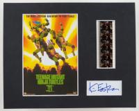 "Kevin Eastman Signed ""Teenage Mutant Ninja Turtles III"" 8x10 Custom Matted Film Strip Cut Display (Beckett LOA) at PristineAuction.com"