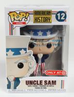 "Charles E. McGee Signed ""American History"" #12 Uncle Sam Funko Pop Vinyl Figure Inscribed ""302 F.S. - 1944"" (JSA COA) (See Description) at PristineAuction.com"