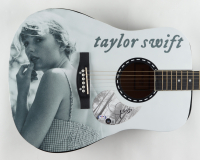 """Taylor Swift Signed Folklore 39"""" Acoustic Guitar (PSA COA & Beckett LOA) (See Description) at PristineAuction.com"""