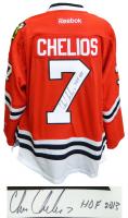 "Chris Chelios Signed Blackhawks Jersey Inscribed ""HOF 2013"" (Schwartz COA) at PristineAuction.com"