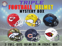 Schwartz Sports TRIPLE Full Size Football Helmet Signed Mystery Box – Series 6 (Limited to 75) (3 FULL SIZE HELMETS IN EVERY BOX!!!) at PristineAuction.com