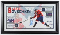 Alexander Ovechkin Signed Capitals 12.5x22 LE Custom Framed Photo Display with Authentic Net Pieces (Capitals COA) at PristineAuction.com