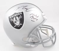 "Maxx Crosby Signed Raiders Full-Size Helmet Inscribed ""Madd Maxx"" (JSA COA) (See Description) at PristineAuction.com"