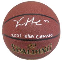 "Khris Middleton Signed NBA Basketball Inscribed ""2021 NBA Champs"" (Schwartz COA) at PristineAuction.com"