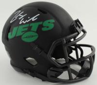 Zach Wilson Signed Jets Eclipse Alternate Speed Mini Helmet (Beckett COA) at PristineAuction.com