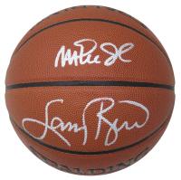 Larry Bird & Magic Johnson Signed NBA Basketball (Schwartz COA) at PristineAuction.com