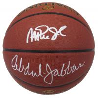 Magic Johnson & Kareem Abdul-Jabbar Signed NBA Basketball (Schwartz COA) at PristineAuction.com