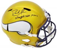 "Randy Moss Signed Vikings Full-Size Flash Alternate Speed Helmet Inscribed ""Straight Cash Homie"" (Schwartz COA) at PristineAuction.com"