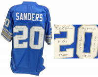 Barry Sanders Signed Lions Jersey with (6) Career Stat Inscriptions (Schwartz Sports COA) at PristineAuction.com