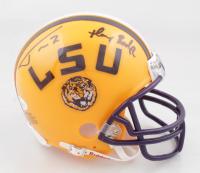 "Tyrann Mathieu Signed LSU Tigers Mini Helmet Inscribed ""Honey Badger"" (JSA COA) at PristineAuction.com"