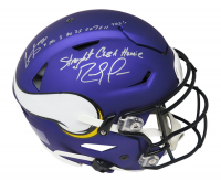 """Randy Moss & Cris Carter Signed Vikings Full-Size Authentic On-Field SpeedFlex Helmet Inscribed """"Straight Cash Homie"""" & """"All I Do Is Catch TDs"""" (Schwartz COA) at PristineAuction.com"""