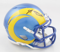 Aaron Donald Signed Rams Speed Mini Helmet (JSA COA) at PristineAuction.com
