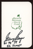 """Gary Player Signed Augusta National Golf Club Score Card Inscribed """"61 74 78 52 Times"""" (JSA COA) at PristineAuction.com"""