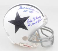 "Bob Lilly & Eddie LeBaron Signed Cowboys Mini Helmet Inscribed ""#1 Draft Pick"" & ""1st QB"" (JSA COA) at PristineAuction.com"