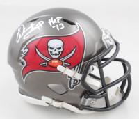 """Warren Sapp Signed Buccaneers Speed Mini Helmet Inscribed """"HOF 13"""" (Beckett COA) at PristineAuction.com"""